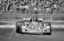 MARCH 771 Patrick Neve  at speed in Williams entered car  1977 French  GP.